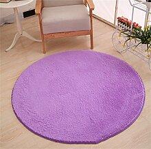 Teppich weich und bequem / stilvollFamilienbedarf Runde Teppich Koralle Samt Zelt Teppich Korb Stuhl Rutschfester Teppich Familienbedarf ( Farbe : # 16 , größe : Diameter 80cm )