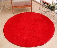 Teppich weich und bequem / stilvollFamilienbedarf Runde Teppich Koralle Samt Zelt Teppich Korb Stuhl Rutschfester Teppich Familienbedarf ( Farbe : # 10 , größe : Diameter 80cm )