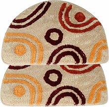 Teppich weich und bequem / stilvollFamilienbedarf rutschfeste matten teppich mats fußabtreter halbkreis herzen Familienbedarf ( Farbe : Beige )