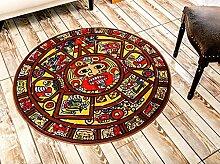 Teppich weich und bequem / stilvollFamilienbedarf Stilvoller ultradünner personifizierter moderner europäischer einfacher Teppich, Wohnzimmer-Schwarzweiss-runde Computer-Stuhl-Matten 150 * 150cm Familienbedarf