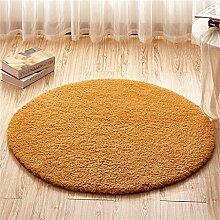 Teppich weich und bequem / stilvollFamilienbedarf Teppich runde Matten Computer Stuhl Kissen Europäische Stil Maschine waschbar Teppich Familienbedarf ( Farbe : #1 , größe : 80*80cm )