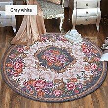 Teppich weich und bequem / stilvollFamilienbedarf Teppich runde Matten Computer Stuhl Kissen Europäische Stil Maschine waschbar Teppich Familienbedarf ( Farbe : #10 , größe : 0.9*0.9m )