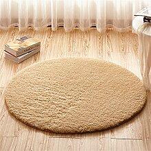 Teppich weich und bequem / stilvollFamilienbedarf Teppich runde Matten Computer Stuhl Kissen Europäische Stil Maschine waschbar Teppich Familienbedarf ( Farbe : #6 , größe : 120*120cm )