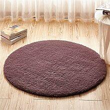 Teppich weich und bequem / stilvollFamilienbedarf Teppich runde Matten Computer Stuhl Kissen Europäische Stil Maschine waschbar Teppich Familienbedarf ( Farbe : #4 , größe : 120*120cm )