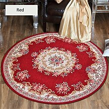 Teppich weich und bequem / stilvollFamilienbedarf Teppich runde Matten Computer Stuhl Kissen Europäische Stil Maschine waschbar Teppich Familienbedarf ( Farbe : #5 , größe : 1.2*1.2m )