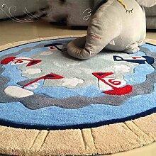Teppich weich und bequem / stilvollFamilienbedarf Teppich runde Matten Computer Stuhl Kissen Europäische Stil Maschine waschbar Teppich Familienbedarf ( größe : 150*150cm )