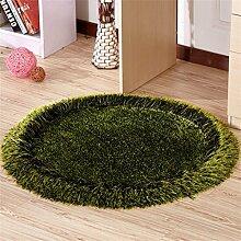 Teppich weich und bequem / stilvollFamilienbedarf Teppich runde Matten Computer Stuhl Kissen Europäische Stil Maschine waschbar Teppich (90 * 90cm) Familienbedarf ( Farbe : #4 )