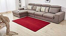 Teppich weich und bequem / stilvollFamilienbedarf Wohnzimmer Schlafzimmer Matten Einfache Runde Teppich Wohnzimmer Kaffee Bett Schlafzimmer Nachttischdecke Home Teppich Matratze Einfache Moderne Matten Europäische Wohnzimmer Kaffeetisch Teppich Sofa Bett Zimmer Schlafzimmer Teppich Full Floor Bett Decke Familienbedarf ( Farbe : #2 , größe : 50*120cm )