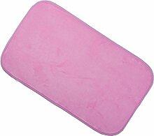 Teppich weich und bequem / stilvollFamilienbedarf Wohnzimmer Teppich Schlafzimmer Teppich Küche Bodenmatte Wohnzimmer Mat Boden Halle Mat Bodenmatte Familienbedarf ( Farbe : Pink )