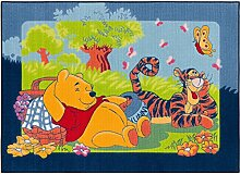 Teppich Winnie Pooh Picknick 95x133cm blau grün