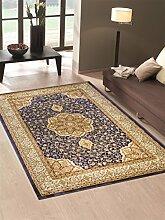 Teppich wirtschaftlichen Position Persisch Stil Klassisch Farbe Blau Salon 712-blu Cm.300x600 blau
