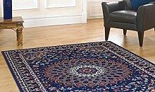 Teppich wirtschaftlichen Stil Persischer Teppich Klassisch hellblau royal Shiraz 2082-light Blue Cm. 160x230 blau