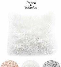 Teppich Wölkchen Kissen Kunstfell Schaffell