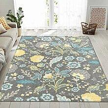 Teppich Wohnzimmer,Böhmischer Kunstdruck Teppich