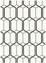Teppich Wohnzimmer Carpet flachgewebt kurzflor Design PATIO GEOMETRIE RUG 100% Polypropylene 160x230 cm Rechteckig Weiß | Teppiche günstig online kaufen