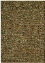 Teppich Wohnzimmer Carpet flachgewebt kurzflor Design SOUMAK RUG 100% Jute 66x200 cm Läufer Grün | Teppiche günstig online kaufen