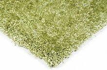 Teppich Wohnzimmer Carpet hochflor Design DIVA SHAGGY RUG 100% Polyester 60x120 cm Rechteckig Grün | Teppiche günstig online kaufen