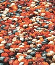 Teppich Wohnzimmer Carpet hochflor Design TASHEN SHAGGY RUG 100% Wollfilz 120x180 cm Rechteckig Rot | Teppiche günstig online kaufen