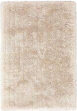 Teppich Wohnzimmer Carpet Hochflor Shaggy Design Cosy 510 RUG Unifarbe Muster Polyester 120x170 cm Beige/Teppiche günstig online kaufen