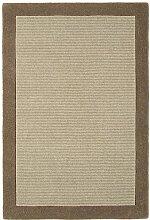 Teppich Wohnzimmer Carpet klassisches Design MOORLAND RUG 100% Wolle 200x290 cm Rechteckig Braun | Teppiche günstig online kaufen