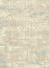 Teppich Wohnzimmer Carpet modern Design XICO FADED MEDALLION RUG 100% Polypropylen 120x170 cm Rechteckig Blau | Teppiche günstig online kaufen