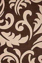 Teppich Wohnzimmer Carpet modernes Design Blumen RUG Netherlands-Utrecht Mokka 200x290cm | Teppiche günstig online kaufen
