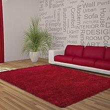 Teppich Wohnzimmer Carpet modernes Design Hochflor Langflor DREAM SHAGGY RUG 80x150 cm RED | Teppiche günstig online kaufen