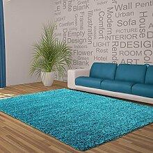 Teppich Wohnzimmer Carpet modernes Design Hochflor Langflor DREAM SHAGGY RUG 80x150 cm TURKIS | Teppiche günstig online kaufen