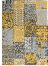 Teppich Wohnzimmer Carpet modernes Design Patchwork RUG Symphony 160 Gold Chenille 80x150cm | Teppiche günstig online kaufen