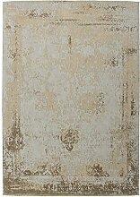 Teppich Wohnzimmer Carpet modernes Design Vintage RUG Nostalgia 285 Sand Baumwolle 160x230cm | Teppiche günstig online kaufen