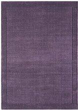 Teppich Wohnzimmer Carpet modernes Design YORK HANDLOOM UNI RUG 100% Wolle 200x290 cm Rechteckig Lila | Teppiche günstig online kaufen