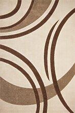 Teppich Wohnzimmer Carpet modernes Design Zick Zack RUG Netherlands-Venlo Elfenbein 80x300cm | Teppiche günstig online kaufen