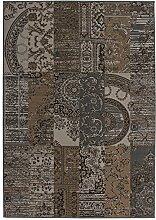 Teppich Wohnzimmer Carpet modernes Patchwork Design RUG Sona 2096 Braun 120x170cm | Teppiche günstig online kaufen