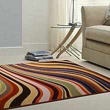 Teppich/Wohnzimmer Couchtisch in der Studie von hochwertiger Wolleteppich/Teppichboden Schlafzimmer minimalistischen Bettvorleger-C 120x170cm(47x67inch)