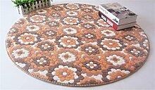 Teppich Wohnzimmer Decke Sofa Couchtisch Teppich Nachttuch Kinderzimmer Matte Runde ( größe : 80*80cm )
