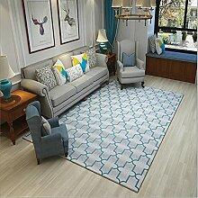 Teppich Wohnzimmer deko Blaugrau Einfach