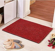 Teppich/ Wohnzimmer Eingang Fußmatte an der Tür/Bad Antirutschmatten/Wasserdichte Kunststoff Staub Rub Fuß Decke-A 120x180cm(47x71inch)