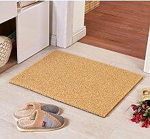 Teppich/ Wohnzimmer Eingang Fußmatte an der Tür/Bad Antirutschmatten/Wasserdichte Kunststoff Staub Rub Fuß Decke-I 128x150cm(50x59inch)