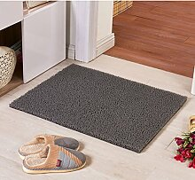 Teppich/ Wohnzimmer Eingang Fußmatte an der Tür/Bad Antirutschmatten/Wasserdichte Kunststoff Staub Rub Fuß Decke-H 128x150cm(50x59inch)