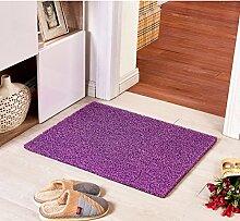 Teppich/ Wohnzimmer Eingang Fußmatte an der Tür/Bad Antirutschmatten/Wasserdichte Kunststoff Staub Rub Fuß Decke-E 80x120cm(31x47inch)