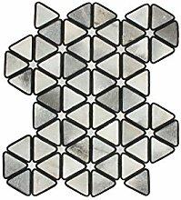 Teppich Wohnzimmer Lederteppich Carpet modernes Design RUG Rebel 210 Schwarz/Grau 100% Leder 116x174cm   Teppiche günstig online kaufen