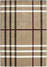 Teppich Wohnzimmer modern Carpet geometrisches Design RUG Fame 534 Beige 160x230cm | Teppiche günstig online kaufen