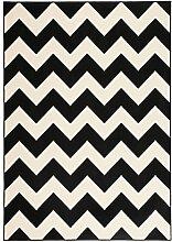 Teppich Wohnzimmer modern Carpet geometrisches Design RUG Manolya 2095 Schwarz 160x230cm | Teppiche günstig online kaufen
