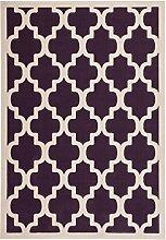 Teppich Wohnzimmer modern Carpet geometrisches Design RUG Manolya 2097 Lila 80x150cm | Teppiche günstig online kaufen