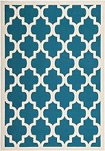 Teppich Wohnzimmer modern Carpet geometrisches Design RUG Manolya 2097 Türkis 120x170cm | Teppiche günstig online kaufen