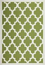 Teppich Wohnzimmer modern Carpet geometrisches Design RUG Manolya 2097 Grün 80x150cm | Teppiche günstig online kaufen