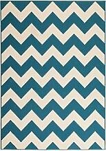 Teppich Wohnzimmer modern Carpet geometrisches Design RUG Manolya 2095 Türkis 120x170cm | Teppiche günstig online kaufen