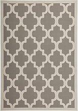 Teppich Wohnzimmer modern Carpet geometrisches Design RUG Manolya 2097 Silber 120x170cm | Teppiche günstig online kaufen
