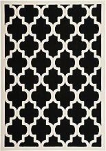 Teppich Wohnzimmer modern Carpet geometrisches Design RUG Manolya 2097 Schwarz 160x230cm | Teppiche günstig online kaufen
