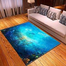 Teppich Wohnzimmer,Moderne Kunst Drucken Ozean